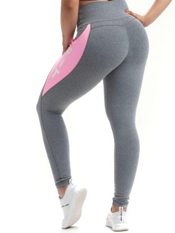 Leggings Active 64242 Gray Heather Pink- Sexy Workout Leggings