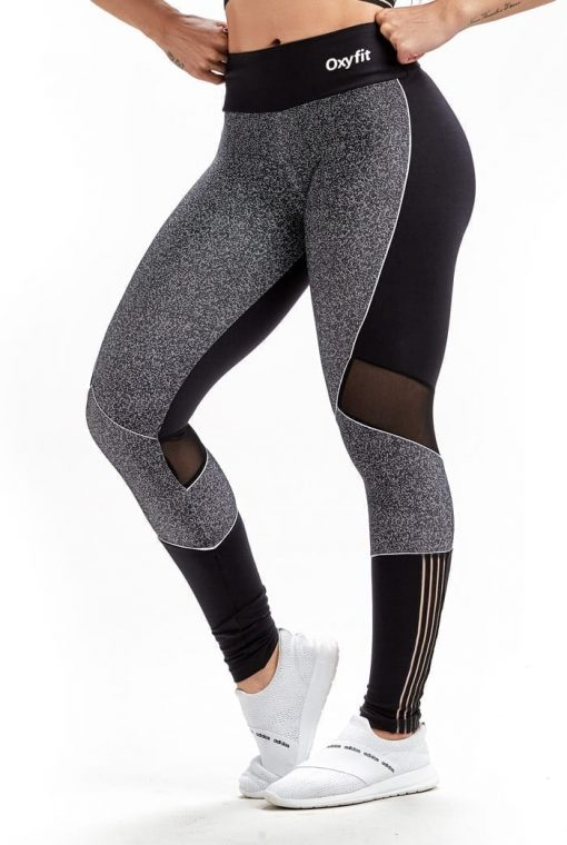 Leggings Grainy 64244 Grainy Effect Black- Sexy Workout Leggings