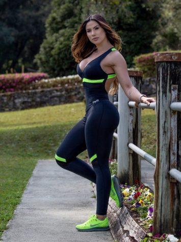 Jumpsuit Sash 15230 Black Neon Sexy Rompers 1-Piece