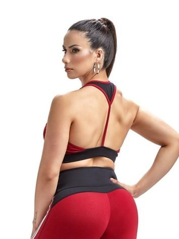 Oxyfit Sports Bra Top Champion 27251 Red White Black