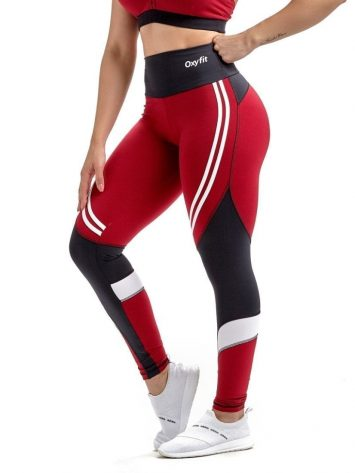 Oxyfit Leggings Champion 642467 Red Black