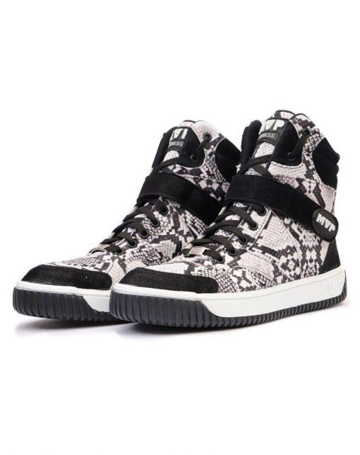 MVP Fitness Sneak Print White Workout Sneakers