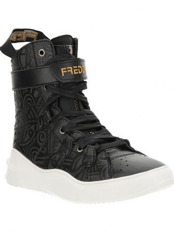 Freddy Fitness Footwear – Mid Cut Boot 589 Laolu Real Leather – Black