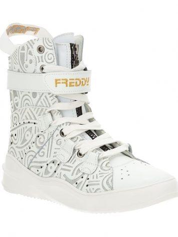 Freddy Fitness Footwear – Mid Cut Boot 589 Laolu Real Leather – White