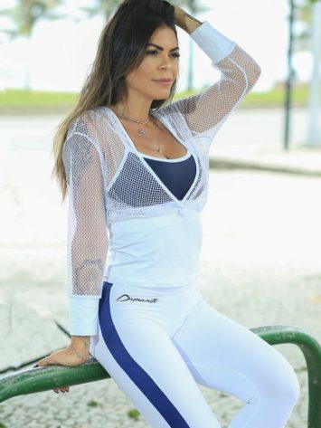 DYNAMITE BRAZIL Long Sleeve Top Hoody White Niantic