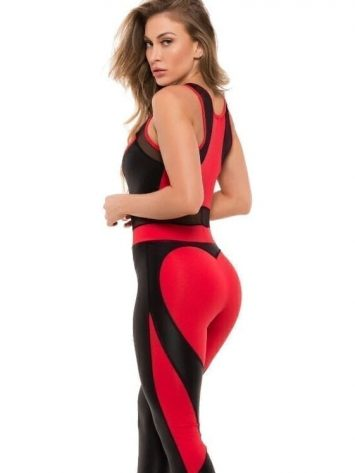 BFB Activewear Jumpsuit Macacao Sweet – Red – 112119