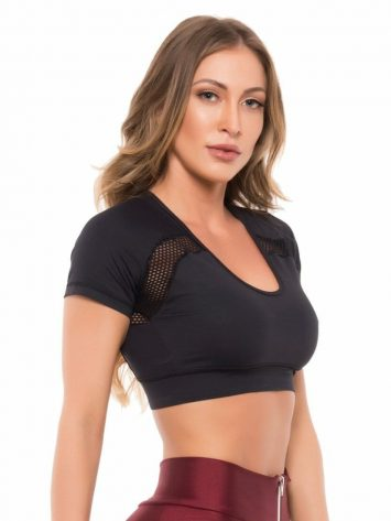BFB Activewear Cropped Fit Gym – Black