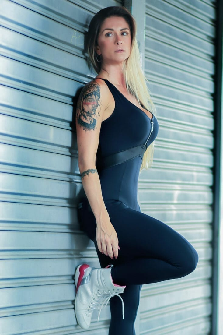 DYNAMITE Jumpsuit One-Piece ML2092 Fitness Stary Nights - Black