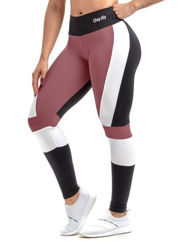 Oxyfit Leggings Active X4241 Black-Rust-White