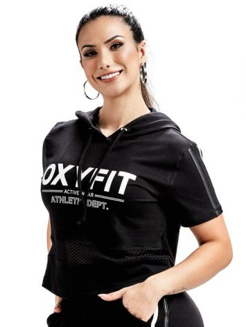 OXYFIT Sweat Jacket Welfare 50171 – Hoody Crop – Black