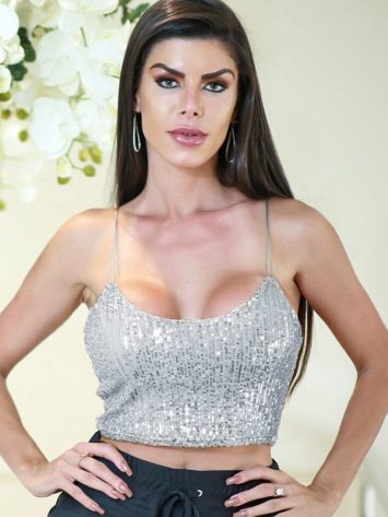 DYNAMITE BRAZIL Top Cropped – Party Platinum Paete