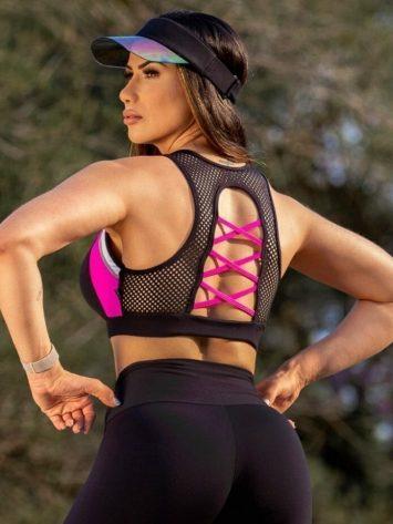 Oxyfit Sports Bra Top Luster – 27258- Pink