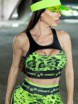 DYNAMITE Sports Bra Top Arxiu T2018 - Camo Neon