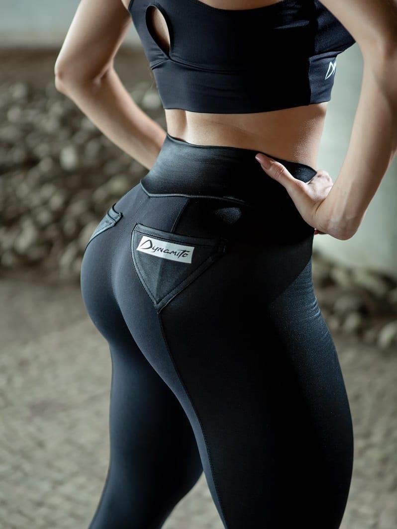 DYNAMITE Brazil Leggings - Fitness Shvarts L2013 - Black