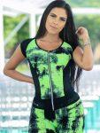 DYNAMITE BRAZIL Tank Top Tie Dye BL2088 - Green/Black