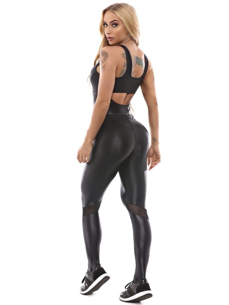 Let's Gym Jumpsuit Attitude - Black