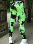 DYNAMITE Brazil Leggings - Triangular Tie Dye L2013 - Green