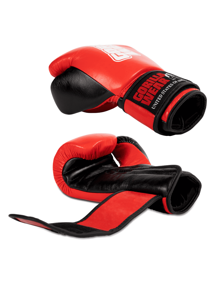 Gorilla Wear Ashton PRO Boxing Gloves - Red/Black