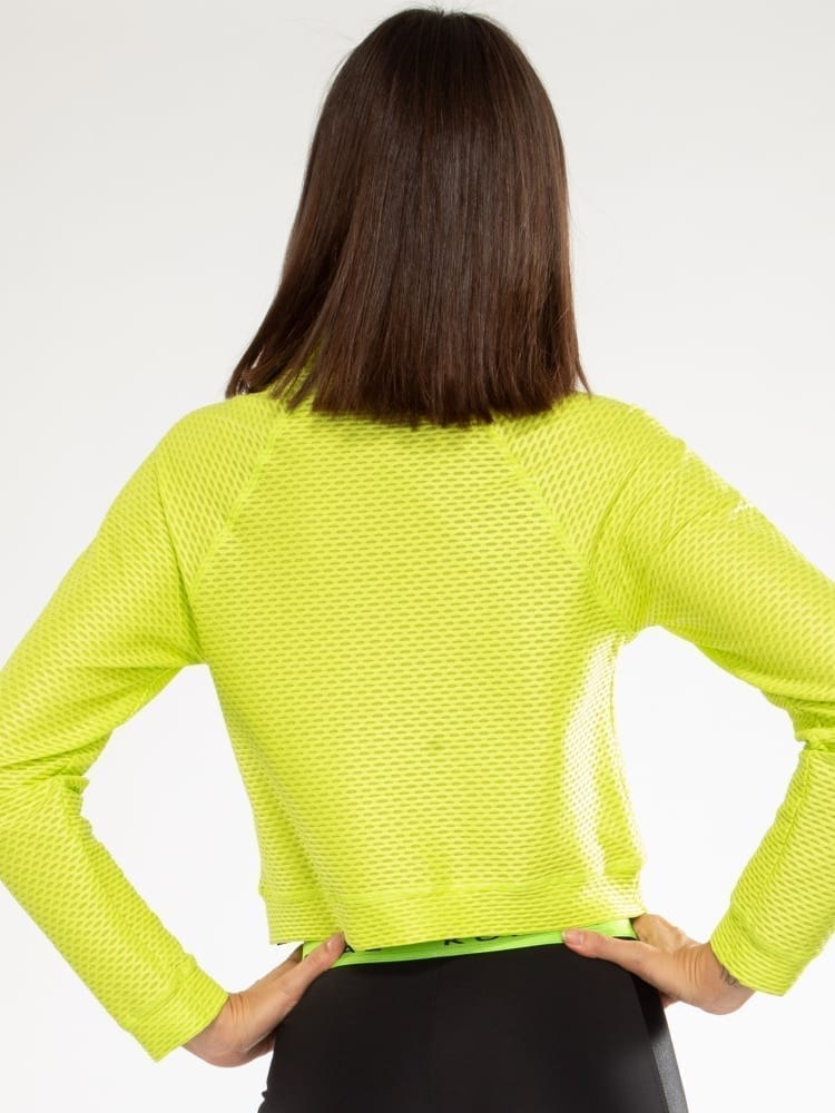 Koral Pump Netz Pullover - Neon Lime
