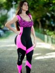 Dynamite Brazil Jumpsuit - Maxxy Pink/Black - One Piece