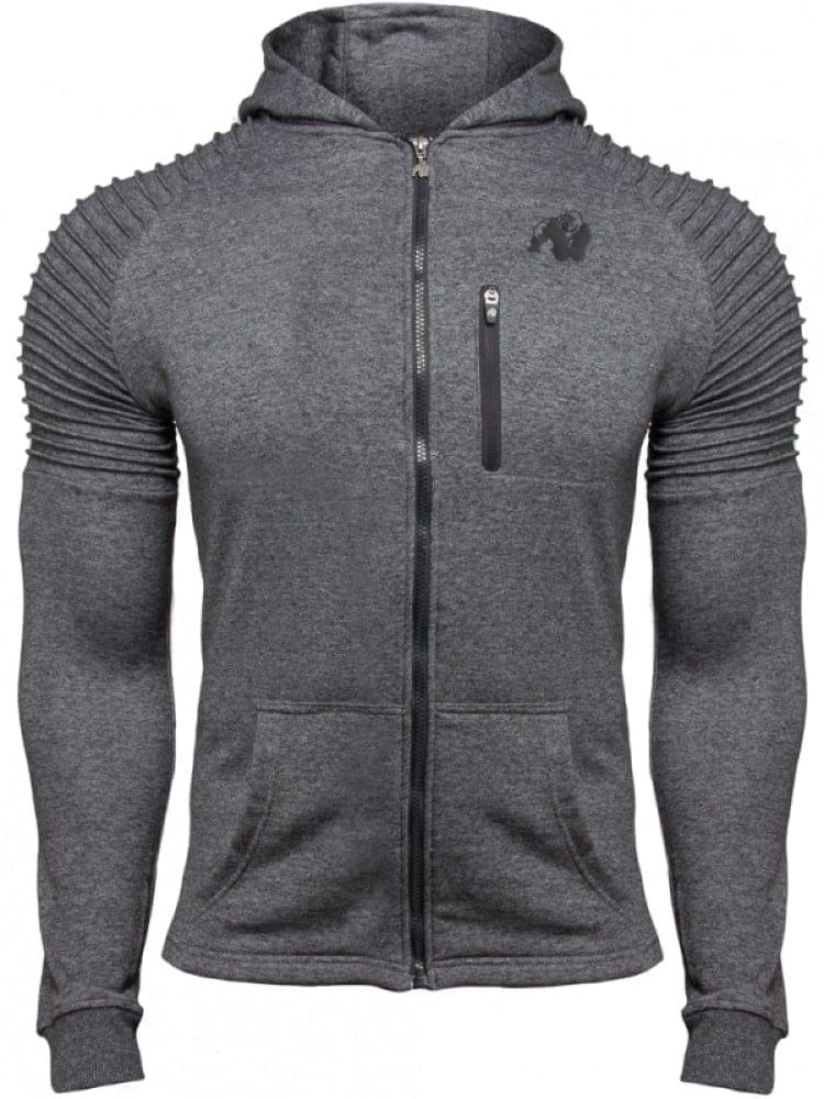 Gorilla Delta Zipped Hoodie – Gray