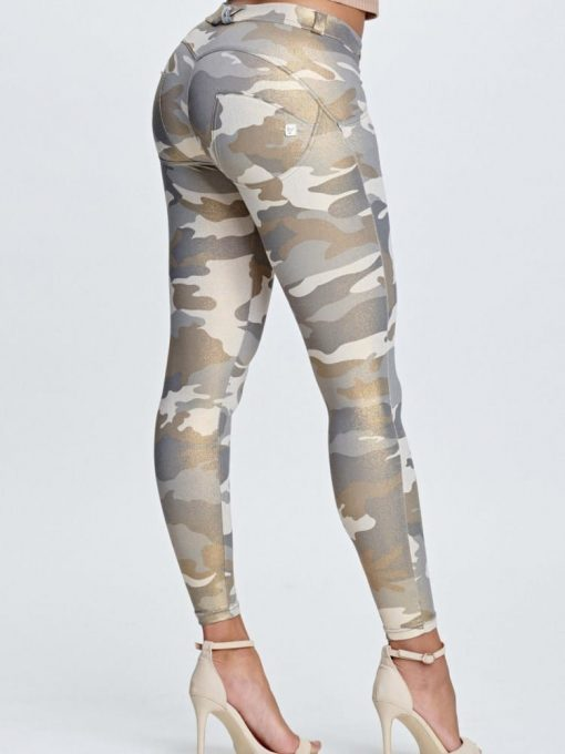 Freddy Ankle-Length Regular-Rise WR.UP® Super Skinny Trousers WRUP4RS922- Camouflage