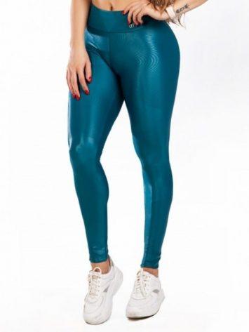 Let's Gym Cirre Luminous Leggings – Aqua Green