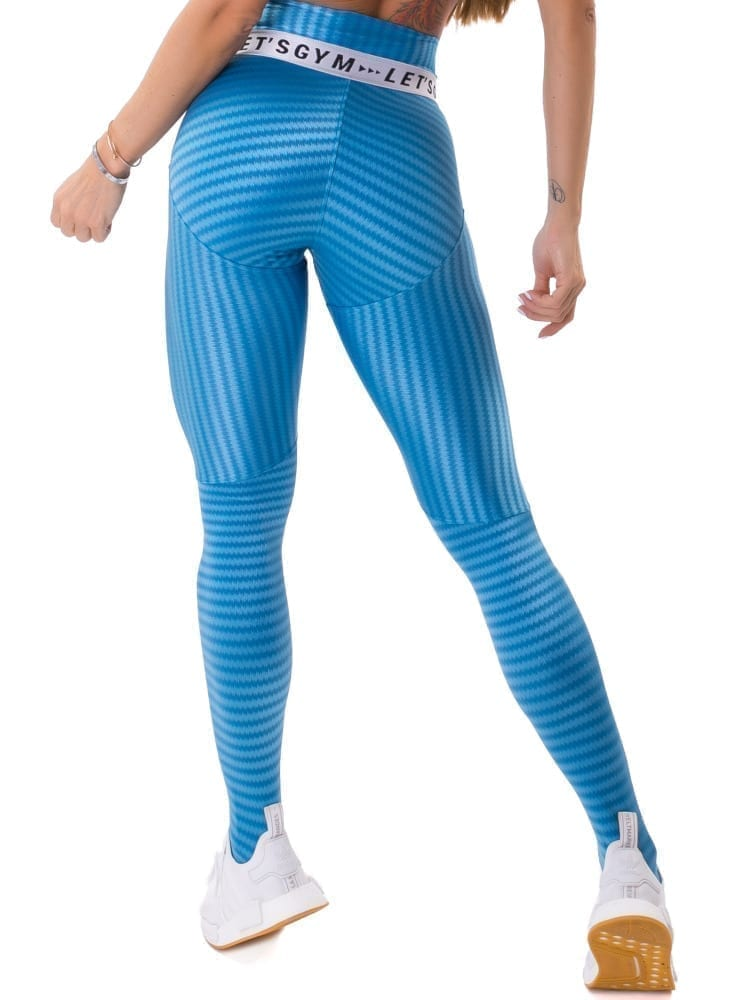 Let's Gym Fitness Ikate Muse Leggings - Blue
