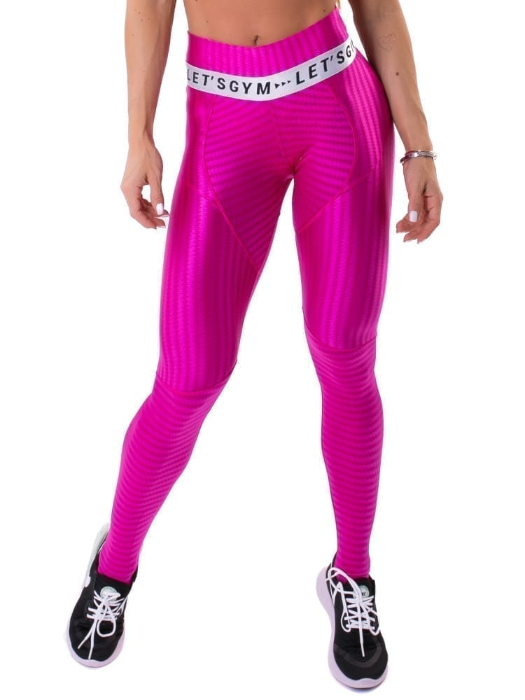 Let's Gym Fitness Ikate Muse Leggings - Pink