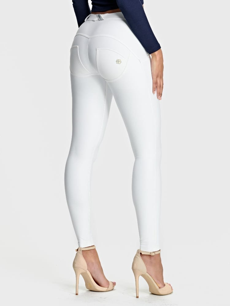 Freddy WR.UP Faux mid rise full length- white