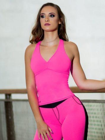 DYNAMITE BRAZIL Carissa Top – BL209 – Neon Pink