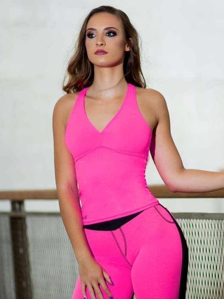 DYNAMITE BRAZIL Carissa Top - BL209 - Neon Pink