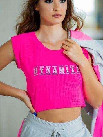 DYNAMITE BRAZIL Top Cropped Rosie – Neon Pink