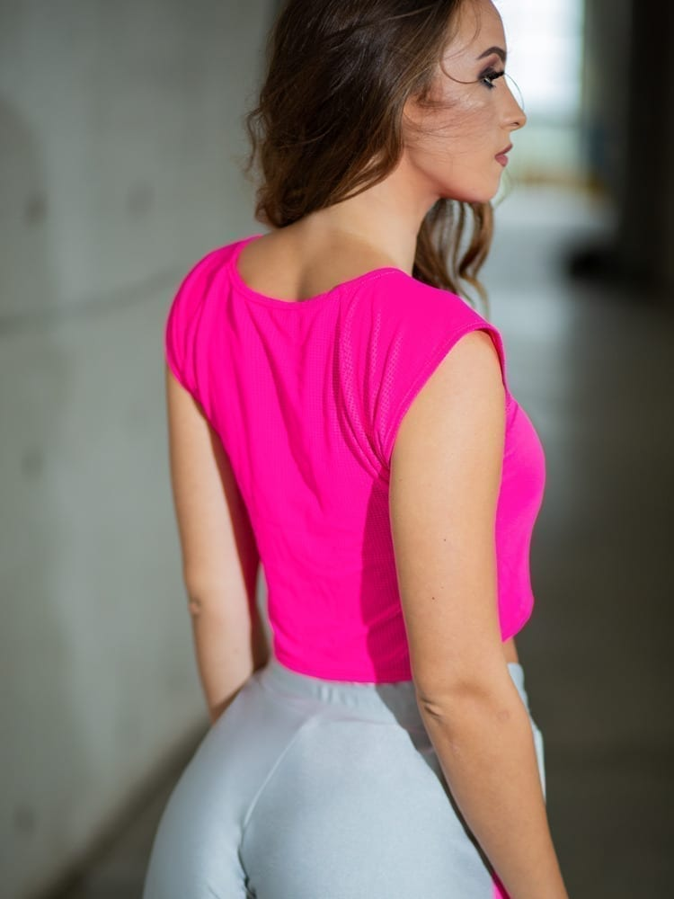 DYNAMITE BRAZIL Top Cropped Rosie - Neon Pink