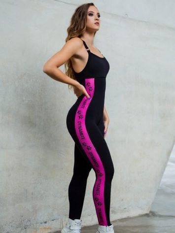 DYNAMITE Jumpsuit – Memory – Neon Pink – Black/Pink Neon