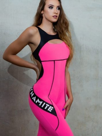 DYNAMITE BRAZIL Jumpsuit Misty – Neon Pink