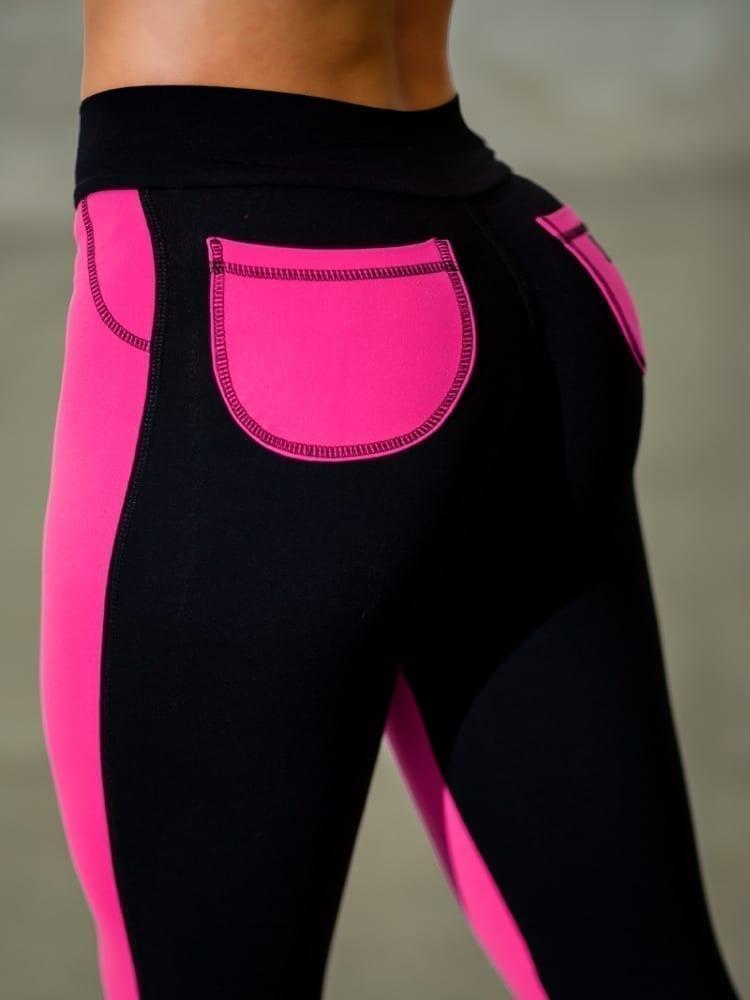 DYNAMITE BRAZIL Leggings Round Pocket - Neon Pink