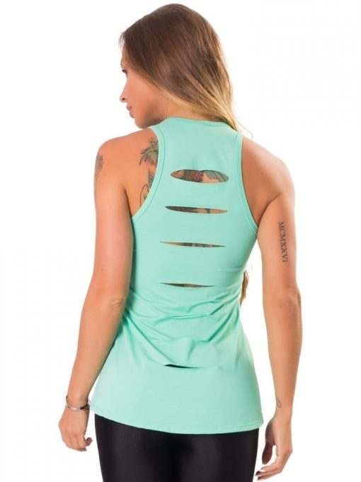 Let's Gym Fitness Blusa New Trip Electric Top - Turquoise