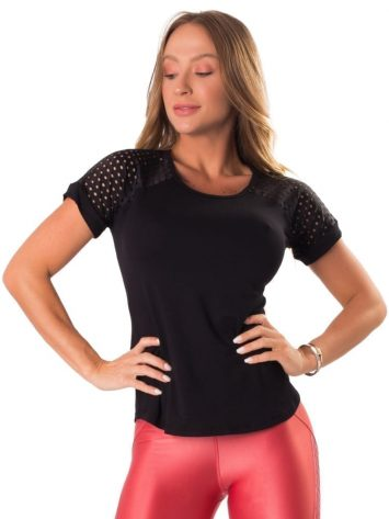 Let's Gym Blusa Air Fit Top – Black