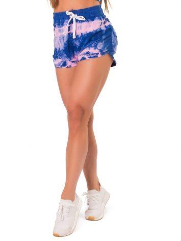Let's Gym Fitness Shorts Molentinho – Blue/Pink