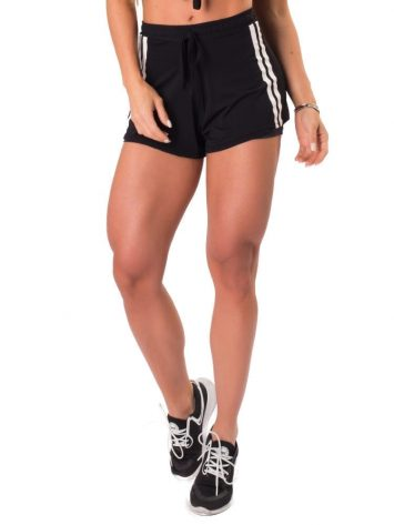 Let's Gym Fitness New Trip Summer Love Shorts – Black
