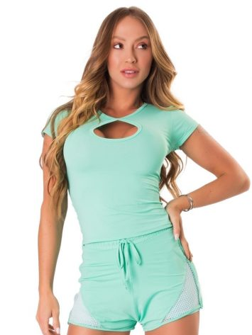 Let's Gym Fitness Blousa New Trip Drop Top – Turquoise