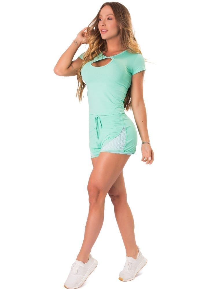 Let's Gym Fitness Blousa New Trip Drop Top - Turquoise