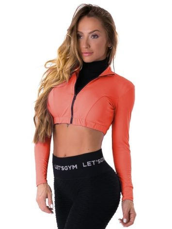 Let's Gym Fitness Cropped Style Trend Top – Coral