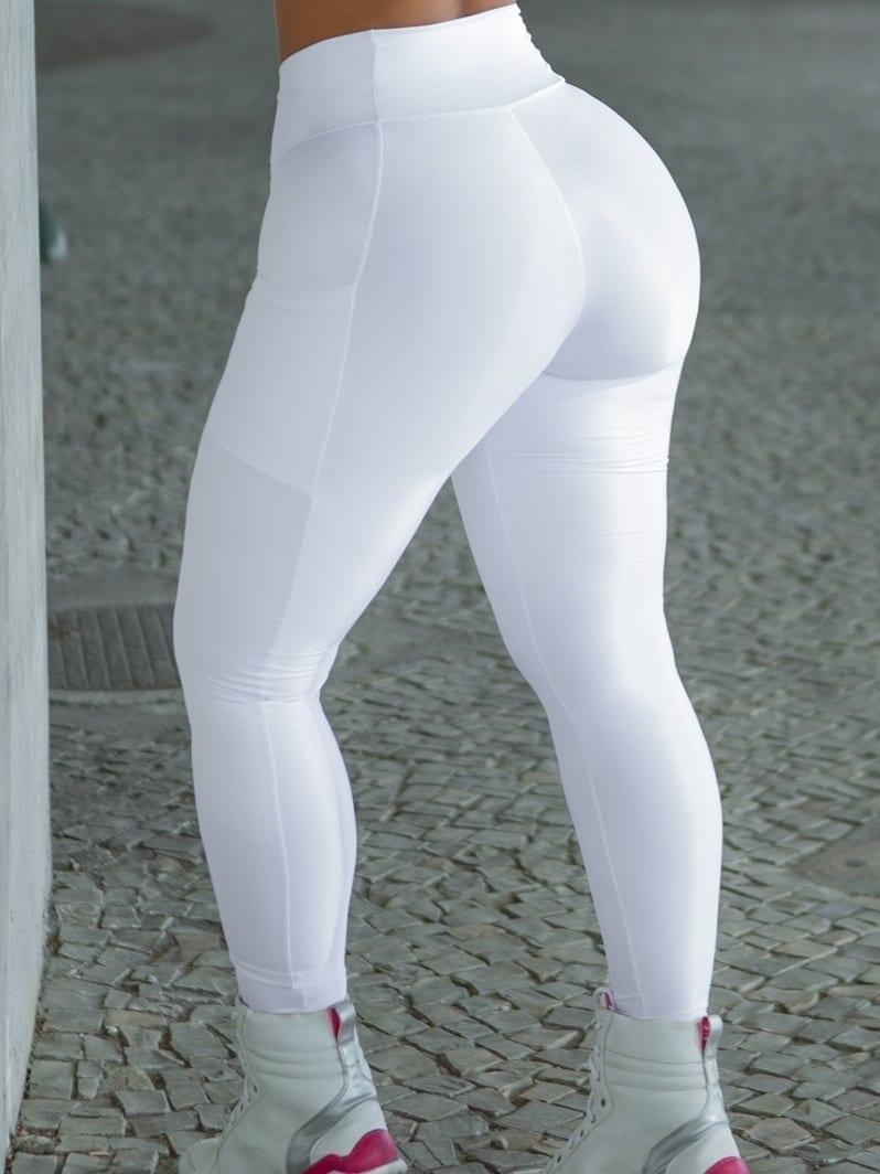 Dynamite Brazil High Waist Garasy Legging - White