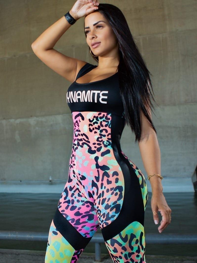 Dynamite Brazil Jumpsuit - Ephoria - Black Animal Print