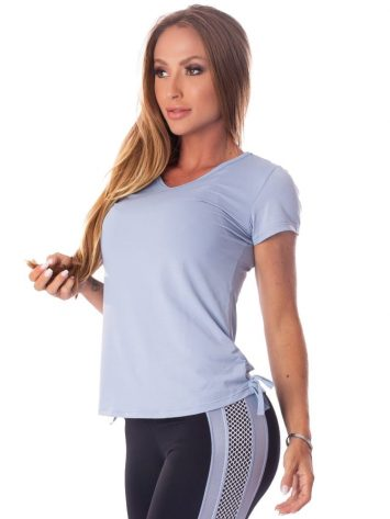 Let's Gym Fitness Blousa Soft Dry Top – Blue