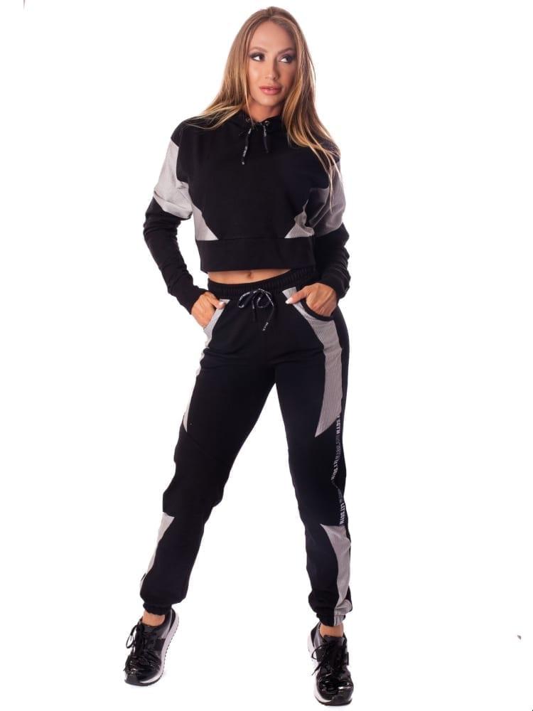 Let's Gym Fitness Calca Jogger Fashion Sport Sweat Pants - Black