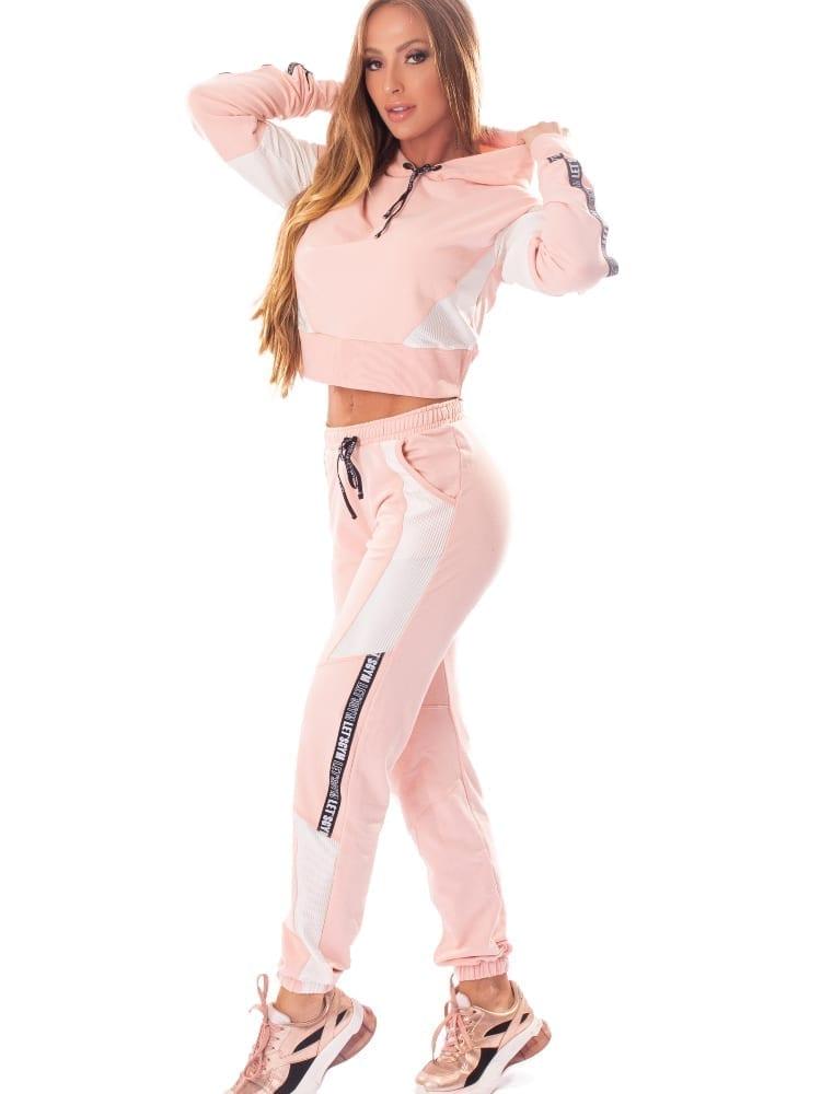 Let's Gym Fitness Calca Jogger Fashion Sport Sweat Pants - Rose
