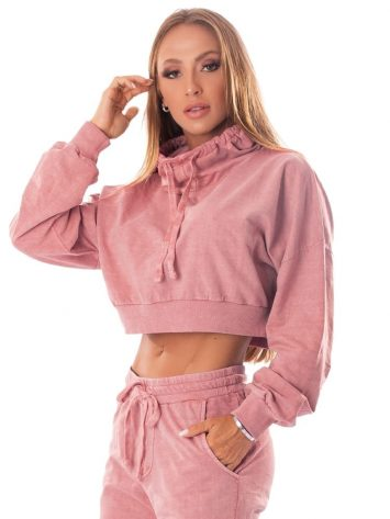 Let's Gym Fitness Cropped Estonado Fashion – Pink